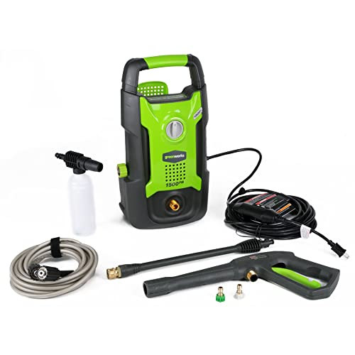 7. GreenWorks GPW1501 1,500 PSI 1.2 GPM 13AMP Hand Carry Electric Pressure Washer