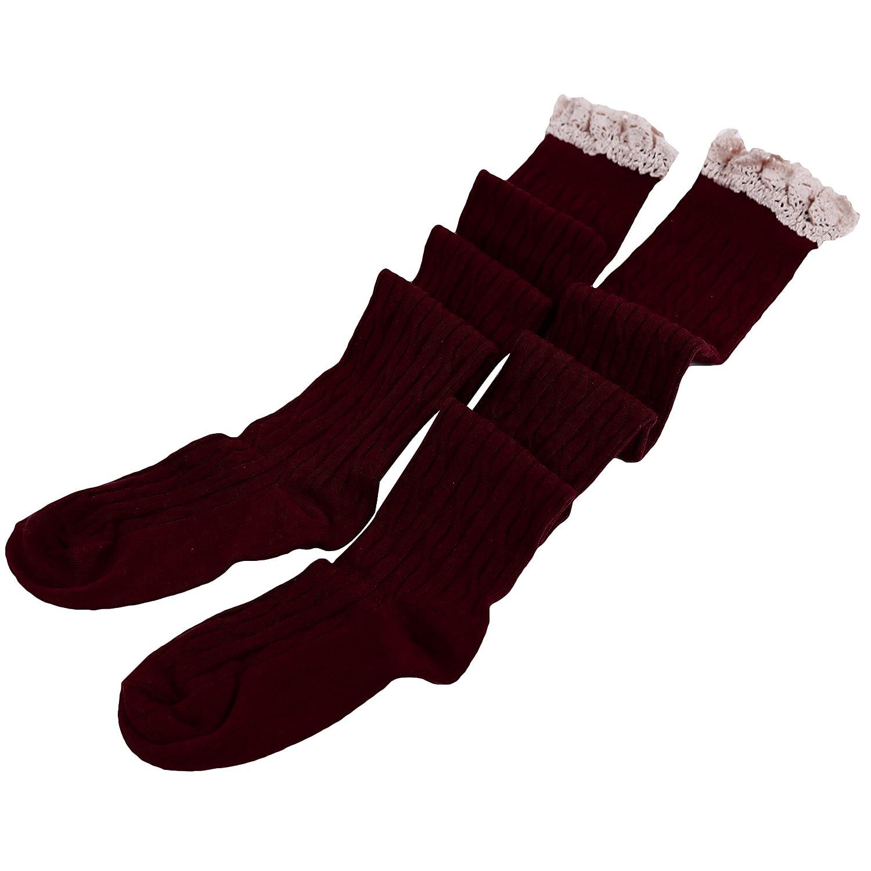 HENGSONG Damen M/ädchen Lange Socken Overknee Str/ümpfe /Über Kniestrumpfe