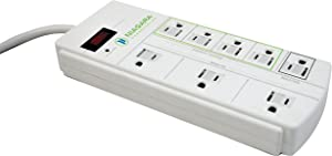 8 Outlet Home & Office Surge Protector Power Strip - Niagara Conservation | Energy Saving 15 Amp, 1050 Joules Surge Protector Power Strips (N9122)