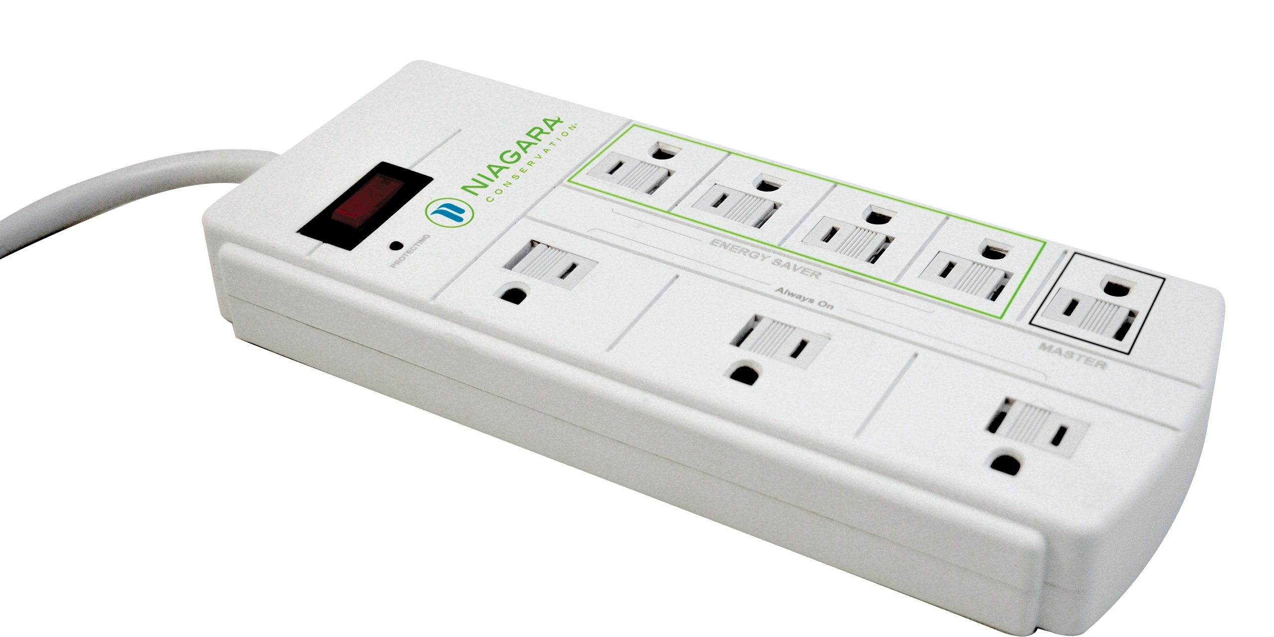Niagara Conservation energy saving, 8 Outlet Smart Surge Protector N9122
