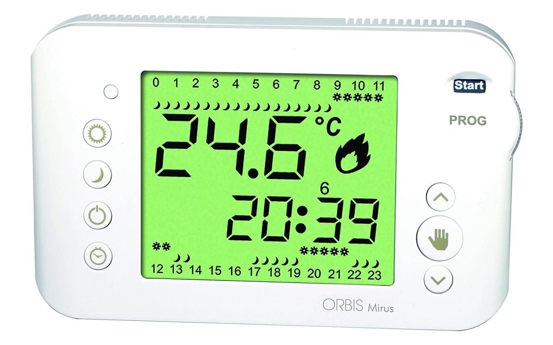 Orbis Mirus Blanco Reloj de termostato, OB324700: Amazon.es: Bricolaje y herramientas
