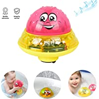 Sprinkler Ball Toy,Spray Water Baby Bath Toy,Floating Bath Toys with Light,Automatic Electric Induction Sprinkler Toy,Amphibious Interesting Light Music Toys,Birthday Gift for Kid