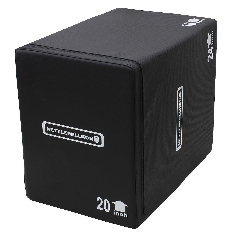 KETTLEBELLKON(ケトルベル魂)ソフトプライオメトリックスボックス(ジャンプボックス)3 in 1 16x20x24  B01M0GGGN4