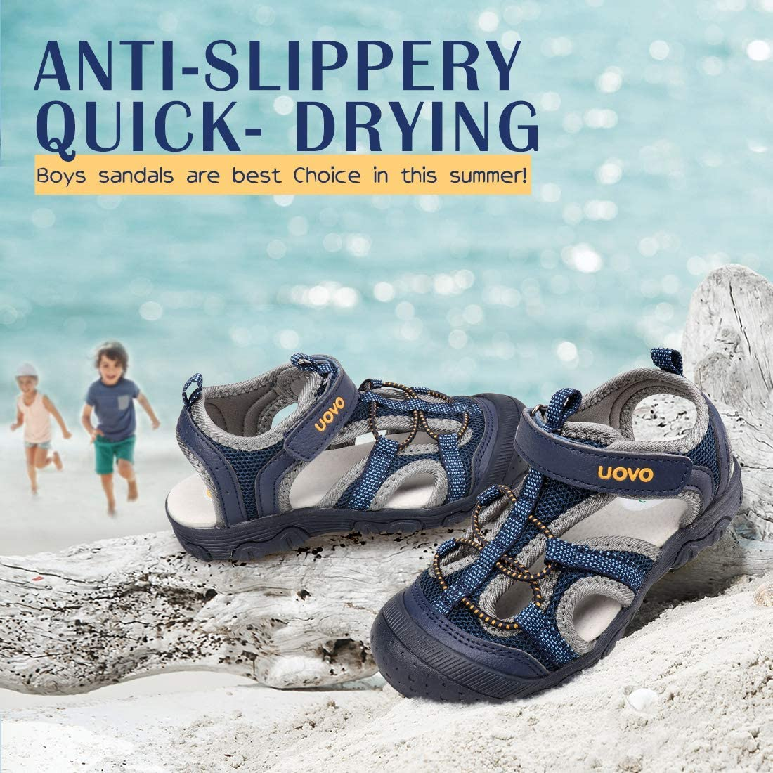 Sandalias de Punta Cerrada Atl/éticas de Los Muchachos del Verano Zapatos de Playa al Aire Libre para Los Ni/ños
