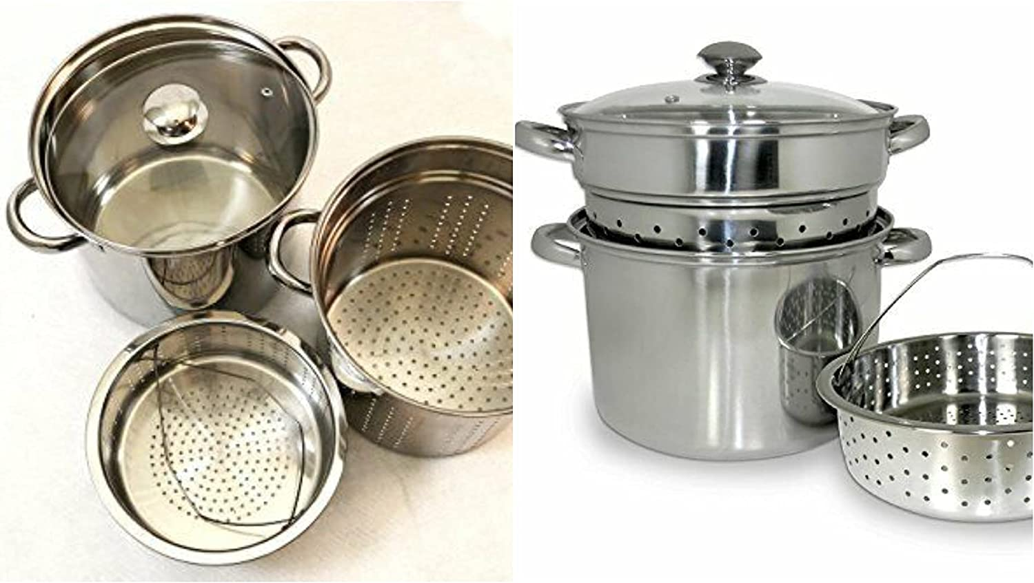 1 pcs - 20 Qt Multifunction Pasta Cooker Stainless Steel w/ Encapsulated Base - Kitchen Supplies - WS05