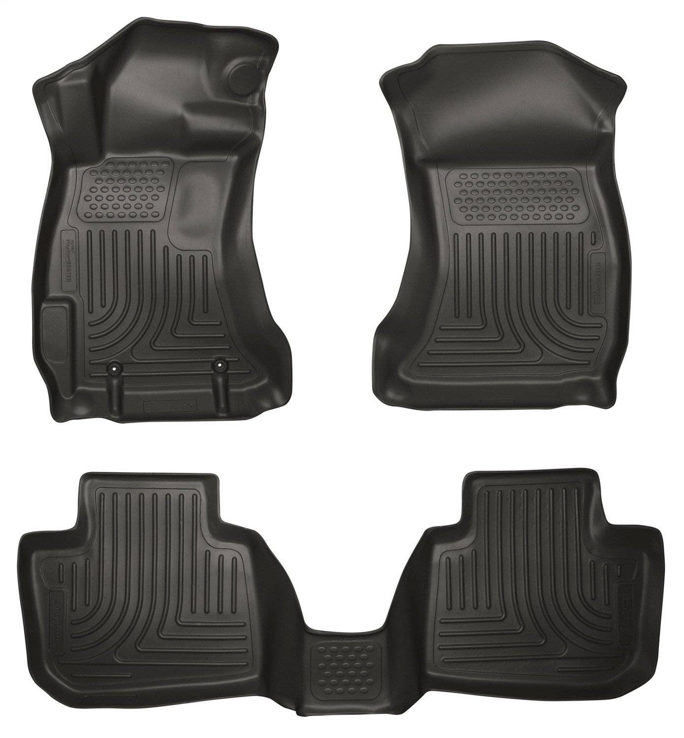 Husky Liners 99841 WeatherBeater Series Black Front and 2nd Seat Floor Liner