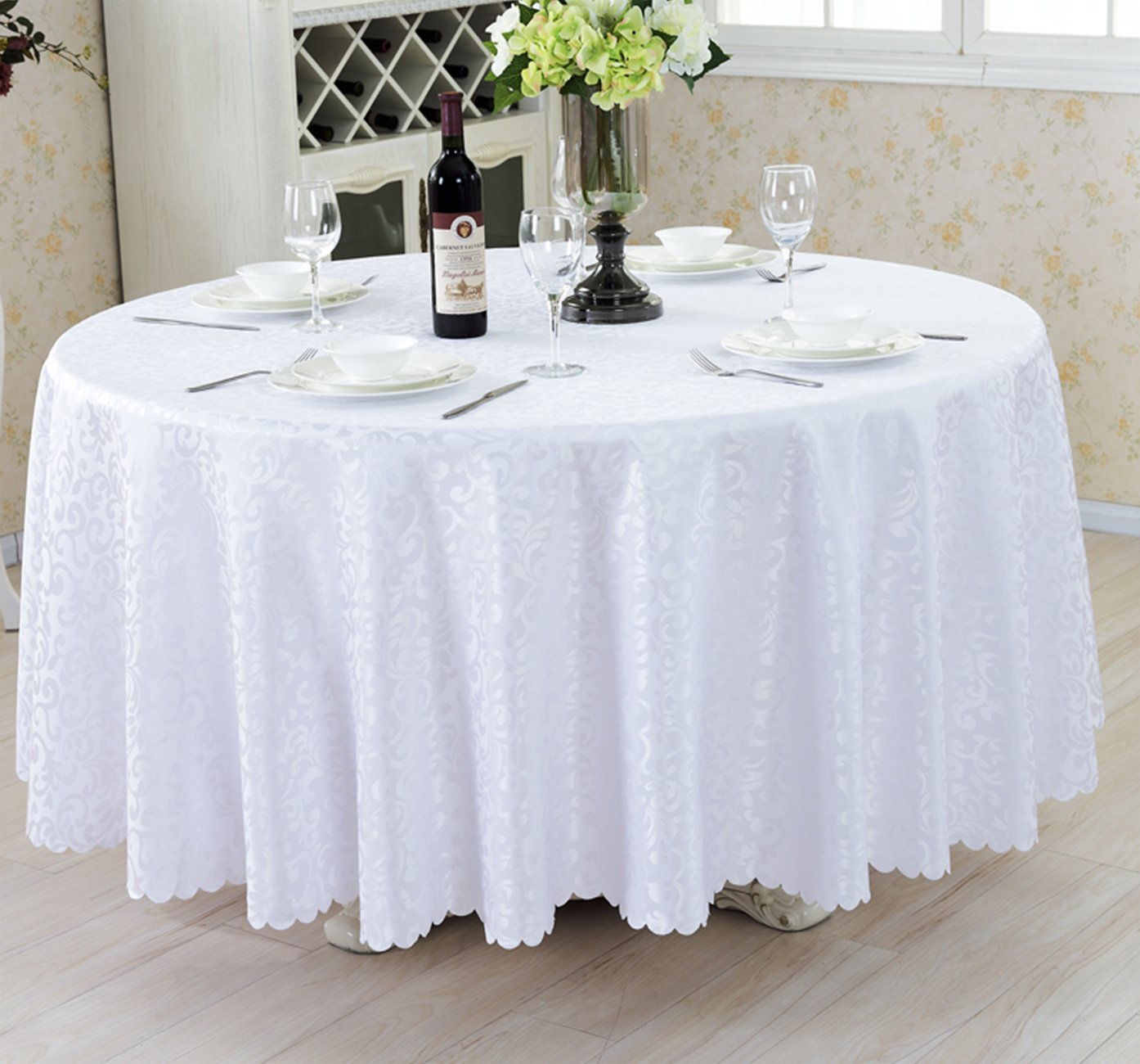 LINENLUX Luxurious Round Tablecloths for Wedding,Meeting,Hotel,Restaurant,Party