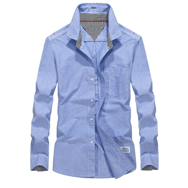 Color Mood New Business Blouse Men Solid Color Cotton Official Shirt Dress Slim Fit Chemise Homme GreyXXX-Large