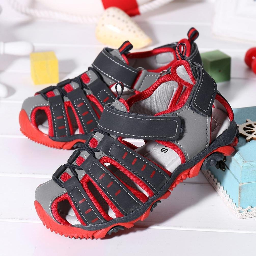 Toddler//Little Kids//Big Kids Luckylin Boys and Girls Summer Outdoor Beach Sports Closed-Toe Sandals Shoes