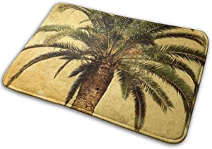HUNANing Bathroom Rug Mat (30 X 18 Inch) Palm Tree Tropical,Extra Soft and Absorbent Rugs,Machine Wash/Dry,Floor Mats for Tub, Shower and Bath Room