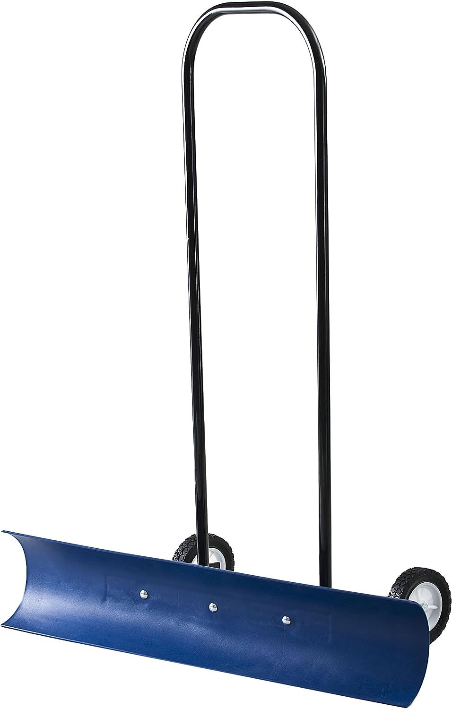 The Snowcaster 30SNC 36-Inch Bi-Directional Wheeled Snow Pusher, Blue