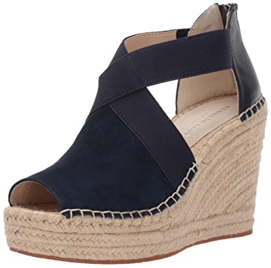 211808cc9c Kenneth Cole New York Women's Olivia Stretch Espadrille Wedge Sandal, Navy,  ...