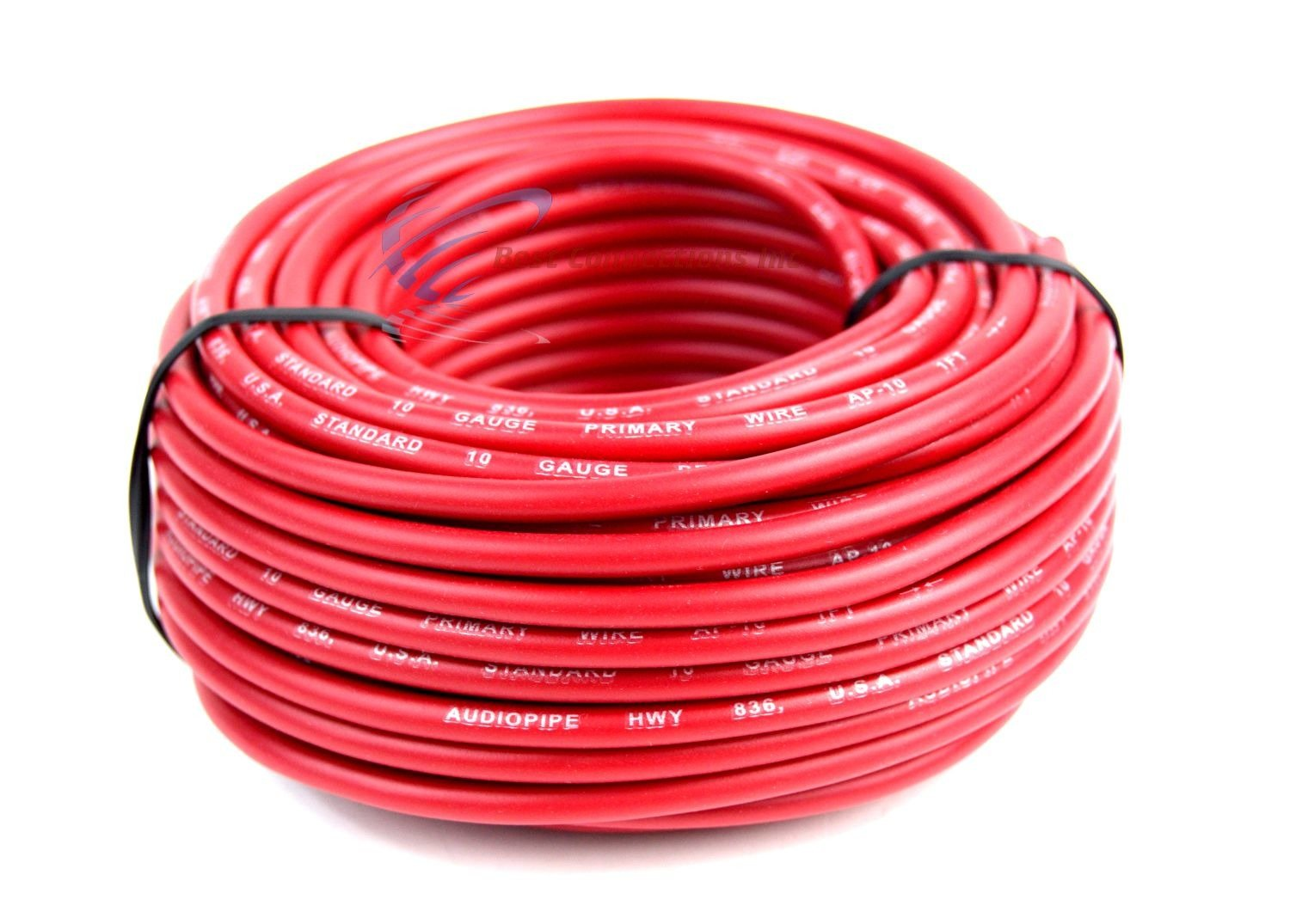 10 Gauge Wire Red Black Power Ground 50 Ft Each Jacket Wiring Harness Primary Stranded Copper Clad Everything Else