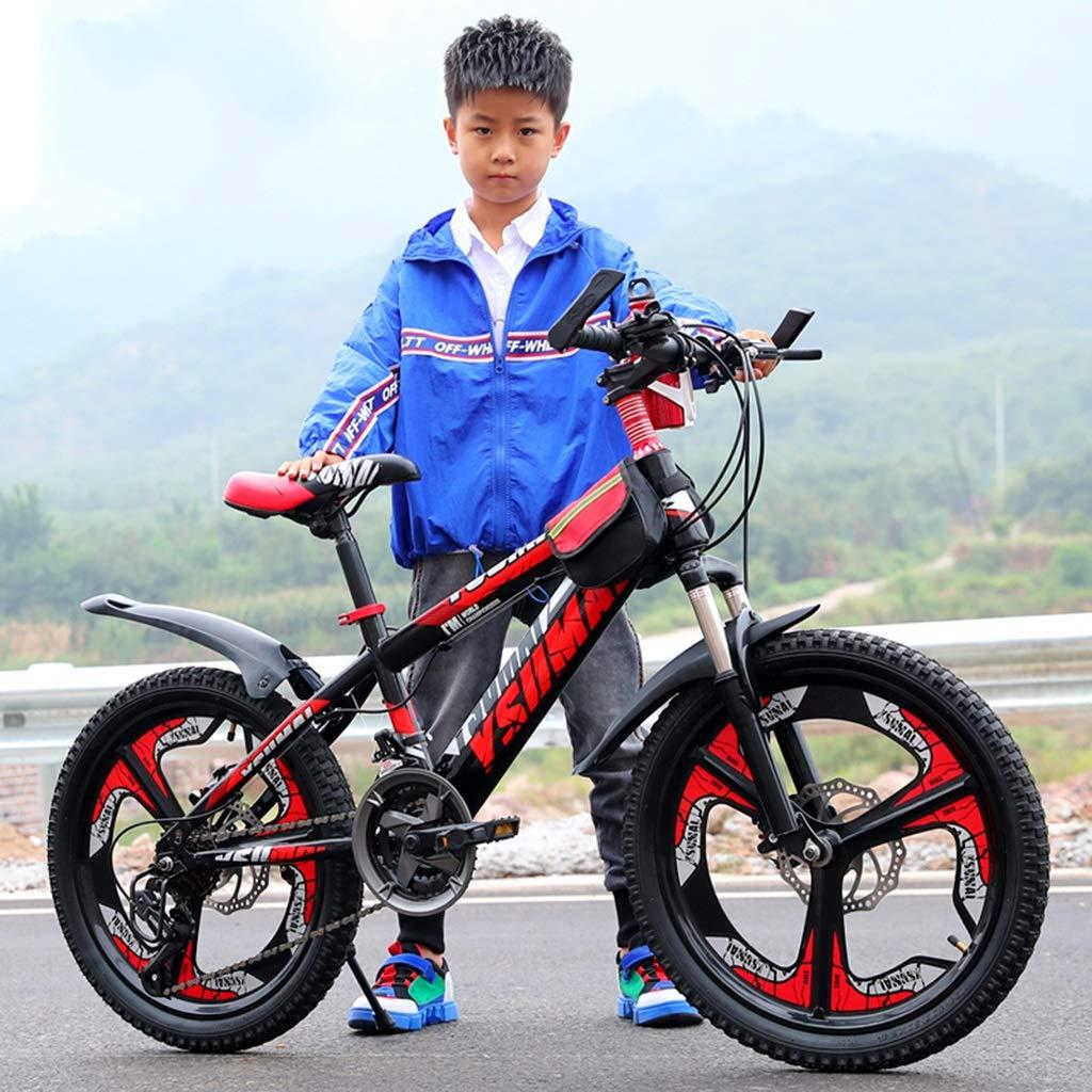 Color : Red, Size : 18inch Bicicleta de monta/ña XXY Ni/ño Bicicleta Bicicleta roja Ni/ños Verano Scooter de equitaci/ón Adecuado para Bicicletas para ni/ños 6-15 a/ños Estudiante 18//20
