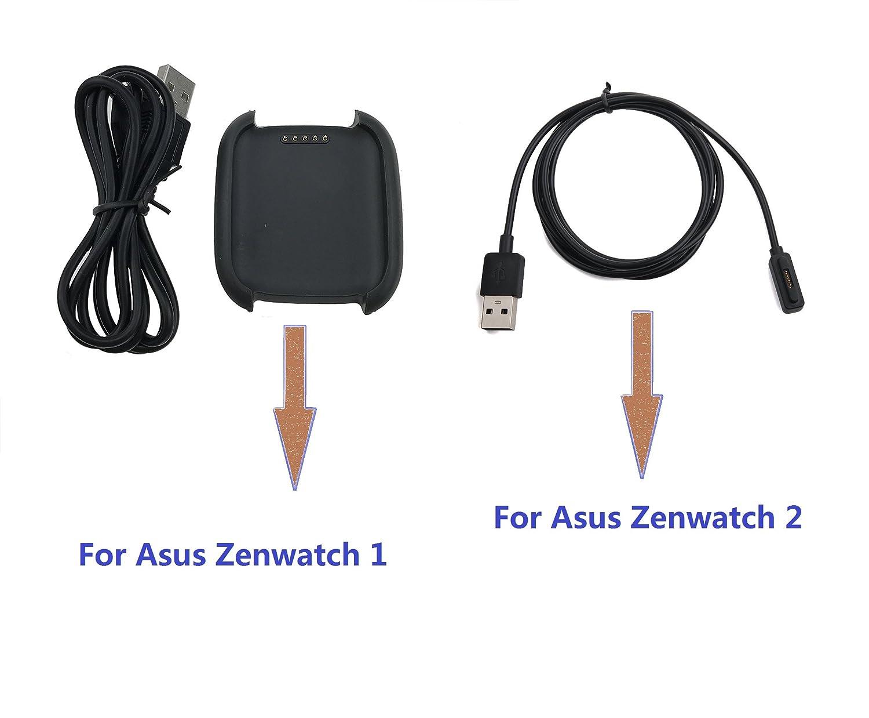 Ruentech Cargador de repuesto para ASUS Zenwatch 1 Base de carga ...