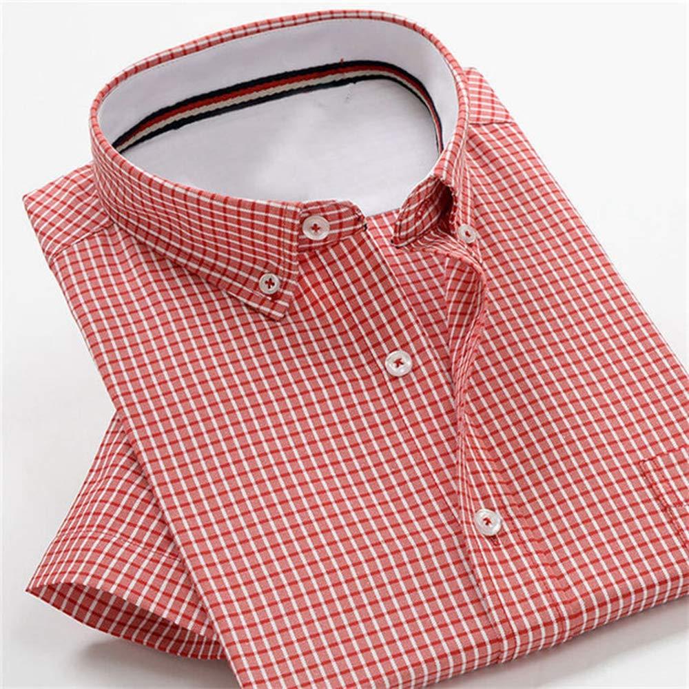 YUSM 5XL-10XL Plus Size Summer Mens Short-Sleeved Shirt Business Loose Shirt
