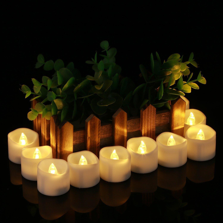 24 pack battery operated led tea lights flameless votive tealights candle ebay. Black Bedroom Furniture Sets. Home Design Ideas