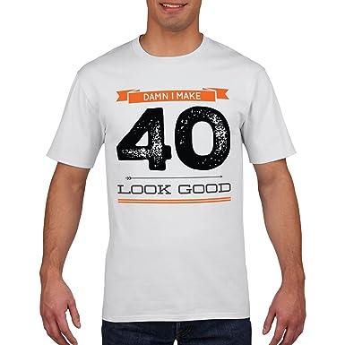 c6dbf6d0da 40th Birthday T Shirt Damn I Make 40 Look Good Funny Mens Womens Forty T- Shirt All Sizes: Amazon.co.uk: Clothing