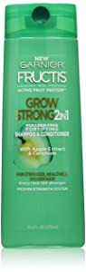 Garnier Fructis Grow Strong 2-in-1 Shampoo and Conditioner, 12.5 fl. oz.