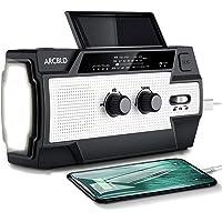 $29 » Solar Emergency Weather Radio,4000mAh Hand Crank Portable Radio with Led…