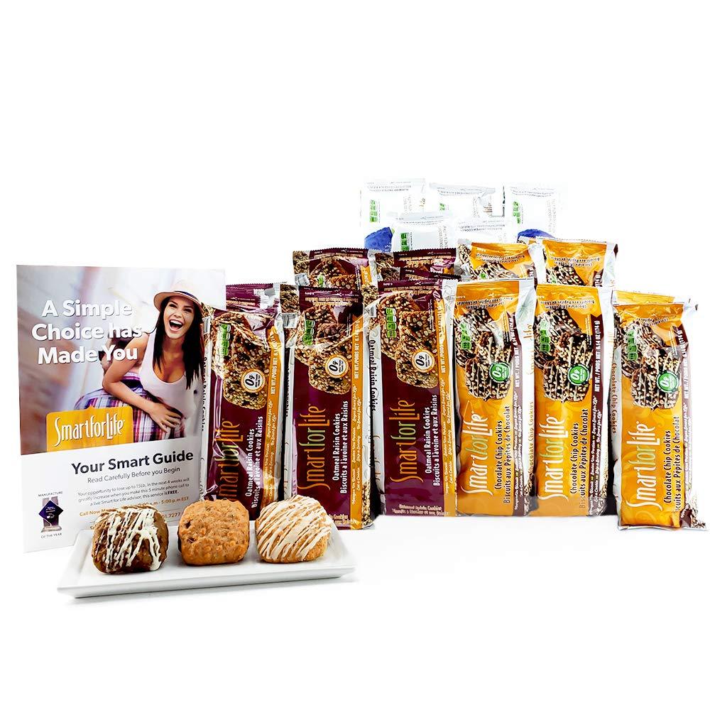 Smart for Life Cookie Diet: 5 Week Package 2 Weeks Chocolate Chip, 2 Weeks Oatmeal Raisin, 1 Week Blueberry (5 Weeks)