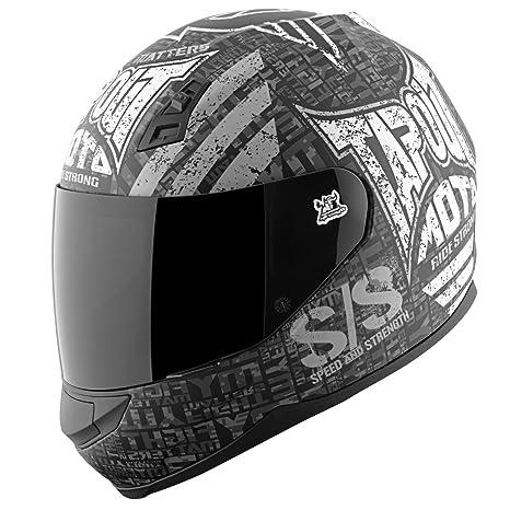 Amazon.com: Velocidad y resistencia SS700 Tapout Moto Casco ...
