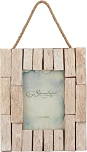 Stonebriar Nautical Driftwood Photo Frame for Wall Hanging & Table Top Display
