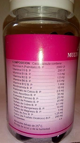 Amazon.com: Adall Plus Multivitaminas Capsulas Con Minerales, Vigor and Vitality: Health & Personal Care