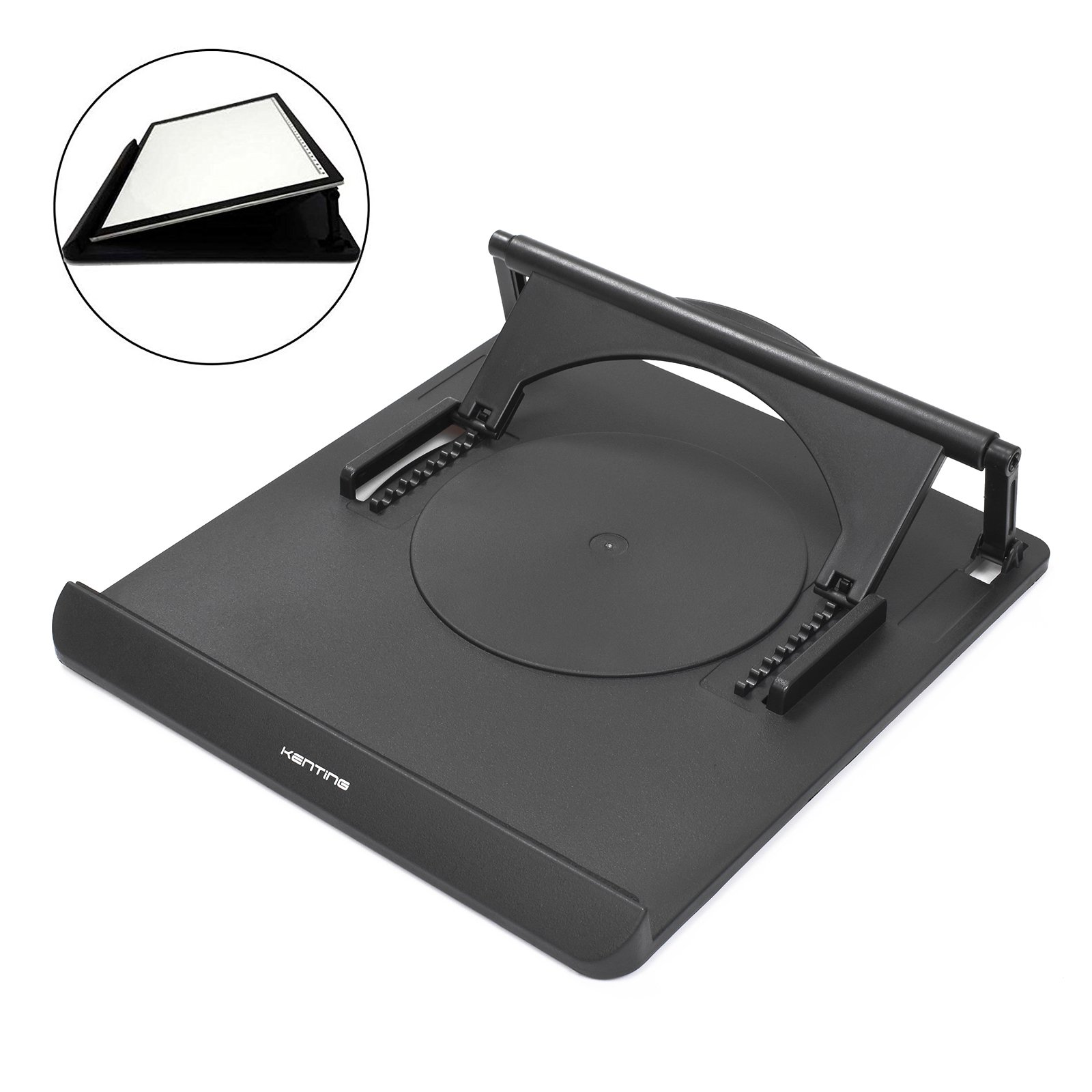 Kenting Light Box Pad Stand, 9-Angle Adjustable Tablet Stand Portable Laptop Stand Rotate in 360 Degree Foldable Holder for Tracing Pad / Laptop / Tablet / Notebook