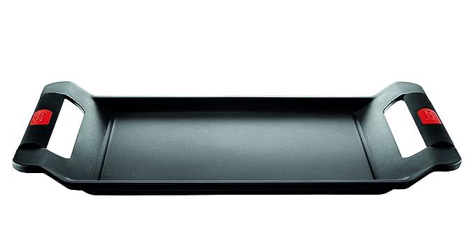 Castey Plancha lisa Classic / Adecuado para Inducción / 35 cm / Distribución de calor perfecta / Utilícelo como una sartén en la encimera o como una ...