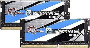 G.SKILL 32GB (2 x 16G) Ripjaws Series DDR4 PC4-21300 2666MHz 260-Pin Laptop Memory Model F4-2666C18D-32GRS