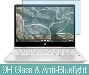 """Synvy Anti Blue Light Tempered Glass Screen Protector for HP Chromebook x360 14b-ca0000 14"""" Visible Area 9H Protective Screen Film Protectors (Not Full Coverage)"""