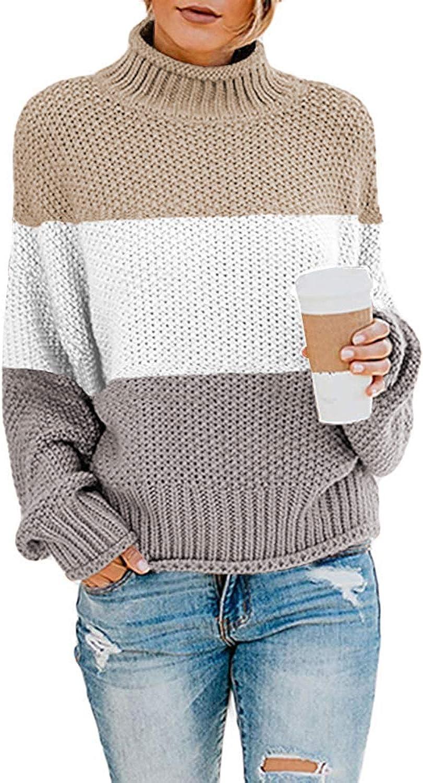 cuello alto y cuello alto CORAFRITZ Jersey de manga larga para mujer