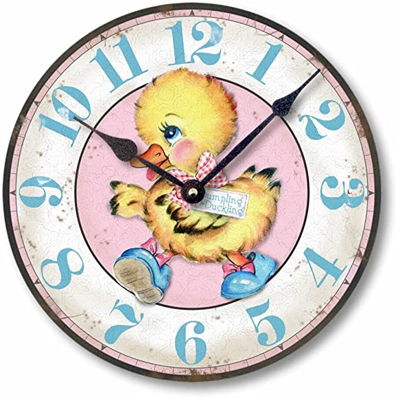 Fairy Freckles Studios Item C5022 Vintage Style 10.5 Inch Peter Rabbit Children s Clock
