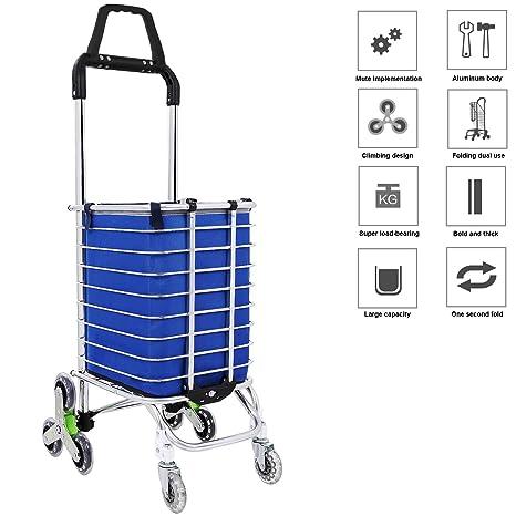 Amazon.com: Carrito de la compra plegable con ruedas ...