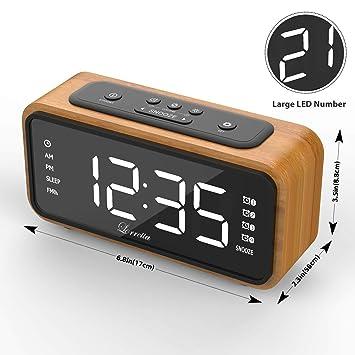 Despertador (Última Versión), Lorretta FM Radio Reloj Digital, Reloj Despertador LED Digital