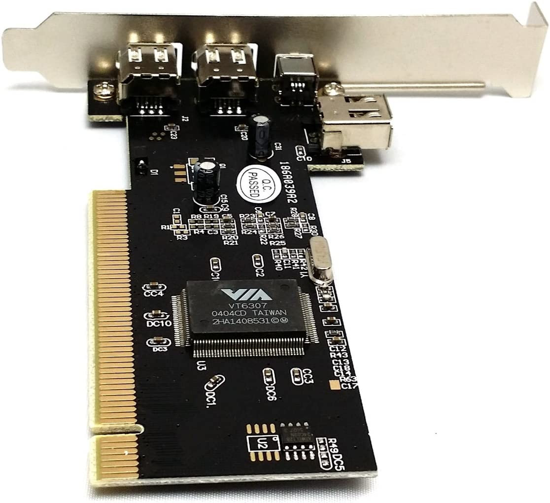 1 Ports Firewire IEEE1394 iLink PCI Controller Card W//Free 6 to 4pin firewire Cable Via Chip 3