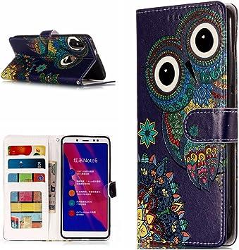 Funda® 3D Relief Painting Flip Billetera Xiaomi Redmi Note 5/Xiaomi Redmi 5 Plus (Patrón 1): Amazon.es: Electrónica