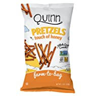 Quinn Snacks Non-GMO and Gluten Free Pretzels, Touch of Honey, 7 Ounce (3 Count)