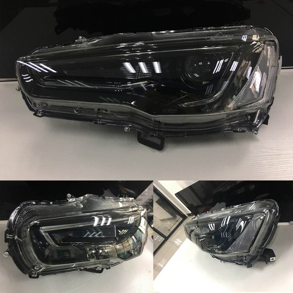 Vland Led Blackout Headlights For 2008 2017 Mitsubishi Jeep Cj5 Wiring Head Light Lancer Evo X Lamp Audi Style Automotive