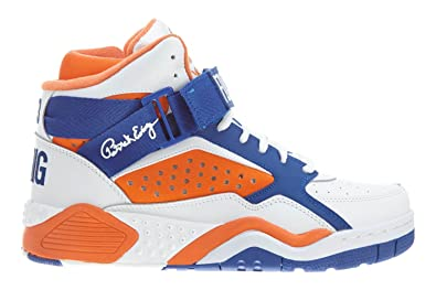 f0592a7ede05 Patrick ewing - Basket Focus Blanche Orange Bleu: Amazon.fr ...