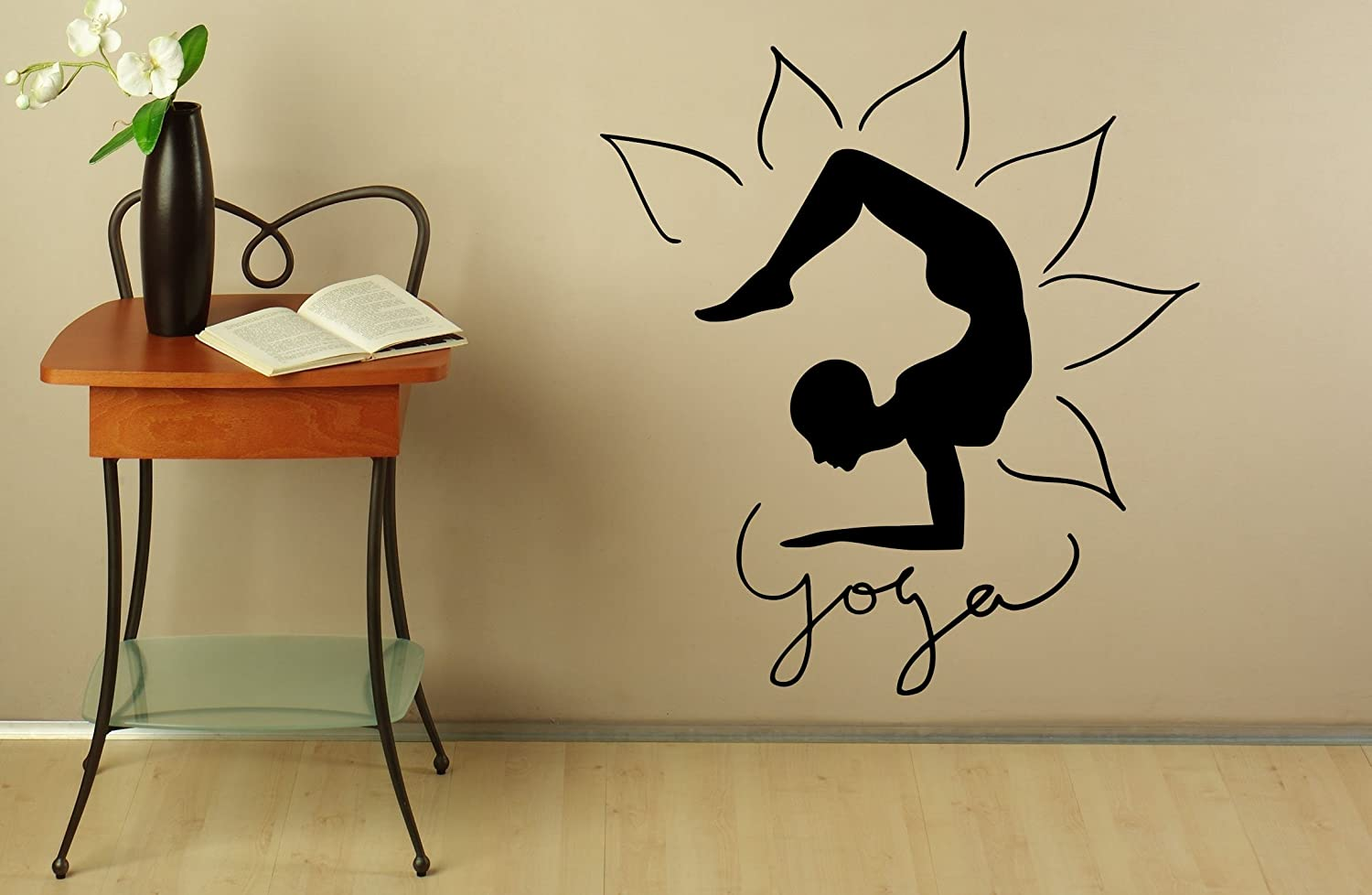 Yoga Wall Decal Wall Vinyl Sticker Fitness Meditation Life ...