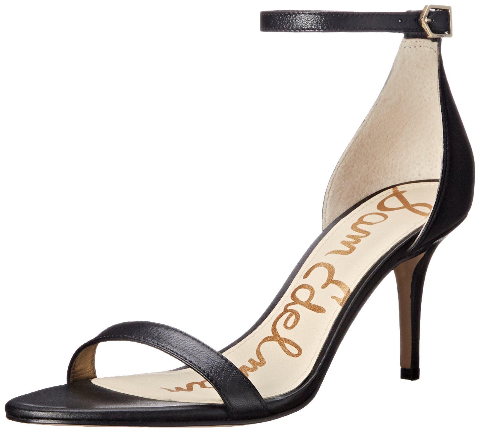 Sam Edelman Women's Patti Dress Sandal, Black Leather, 8.5 M US