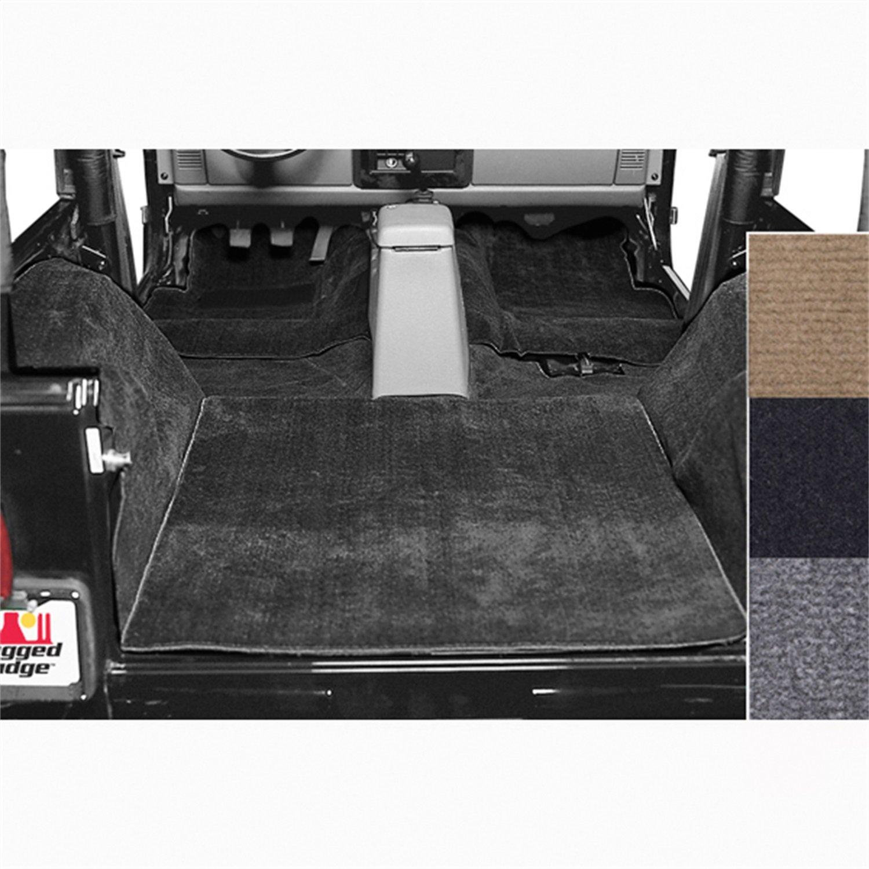 Rugged Ridge 13690.01 Black Deluxe Replacement Carpet Kit