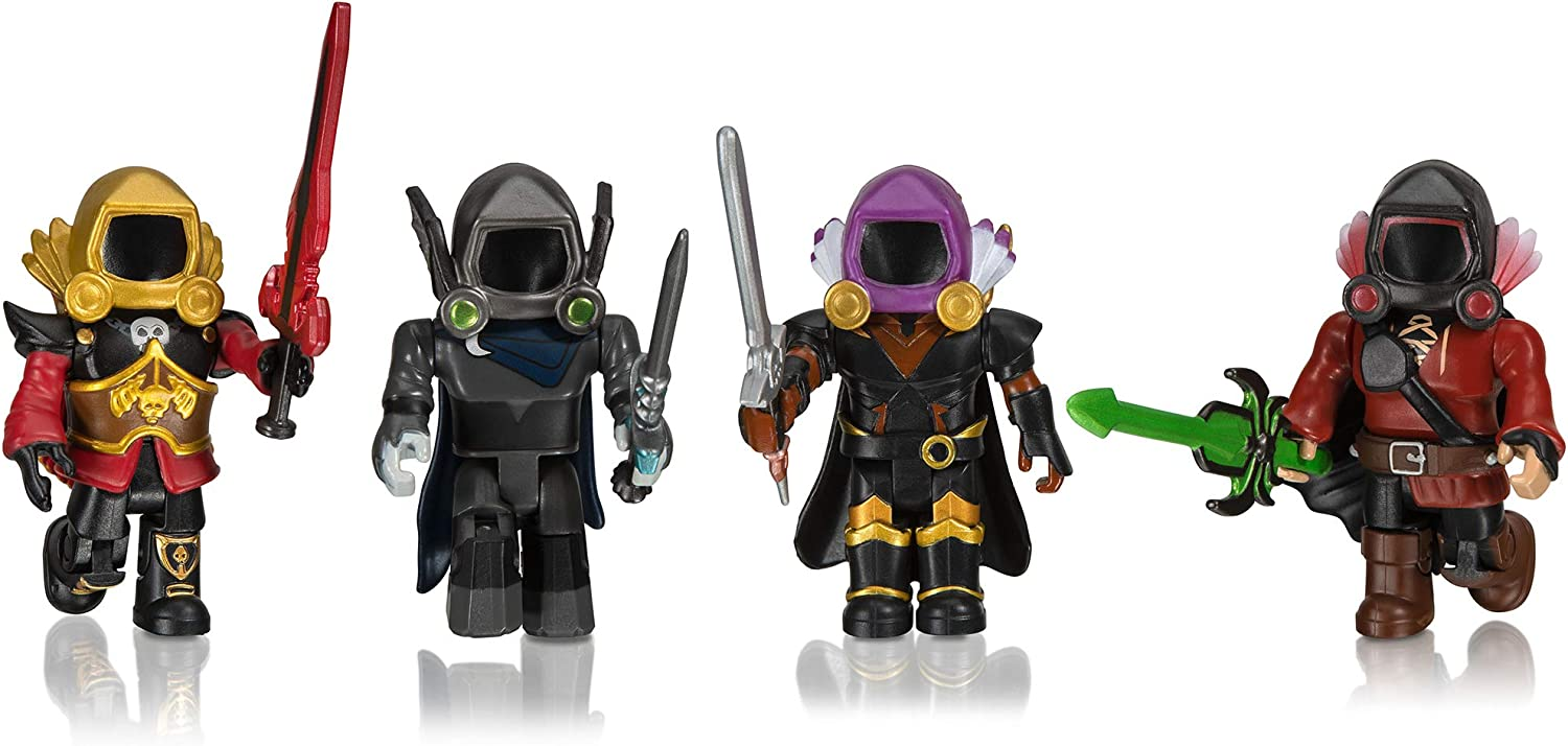 Images Of Roblox Toys Amazon Com Roblox Action Collection Dominus Dudes Four Figure Pack Includes Exclusive Virtual Item Toys Games