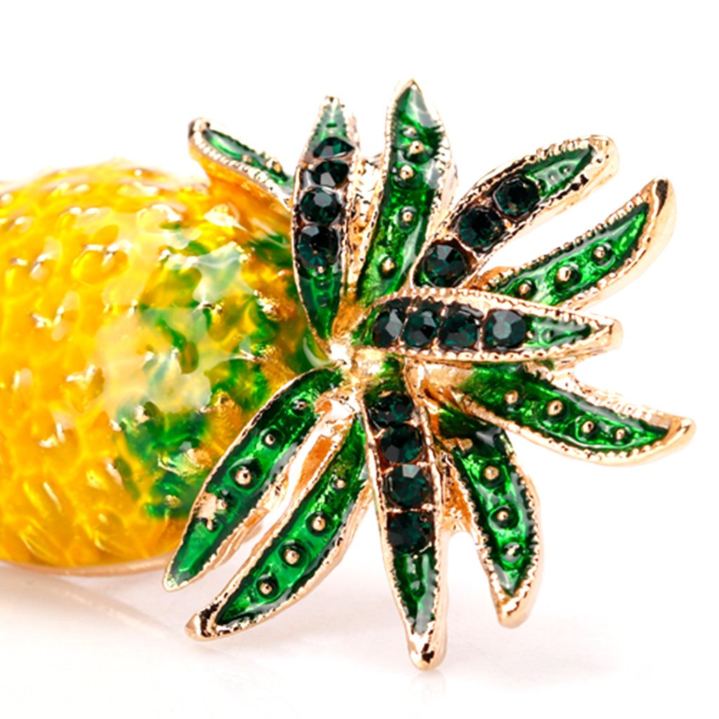 Datuun New Pineapple Brooch Pins Fruit Jewelry Cute for Women Suit Fashion Gift Corsage by Datuun (Image #3)