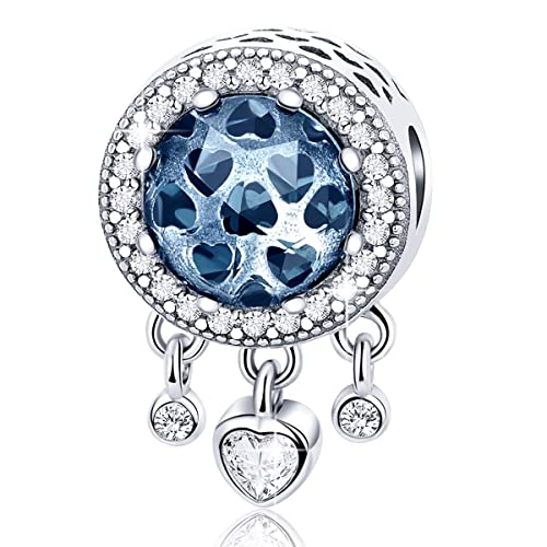 1183373dbf667 FOREVER QUEEN Dream Catcher Charm fit Pandora Charms Bracelet 925 Sterling  Silver Feathers Tassel Bead Charm with Colorful Stones Pendant for European  ...
