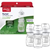 Playtex Baby Nurser Bottle with Pre-Sterilized Disposable Drop-Ins Liners, Closer to Breastfeeding, 4 Ounce Bottles, 3 Count