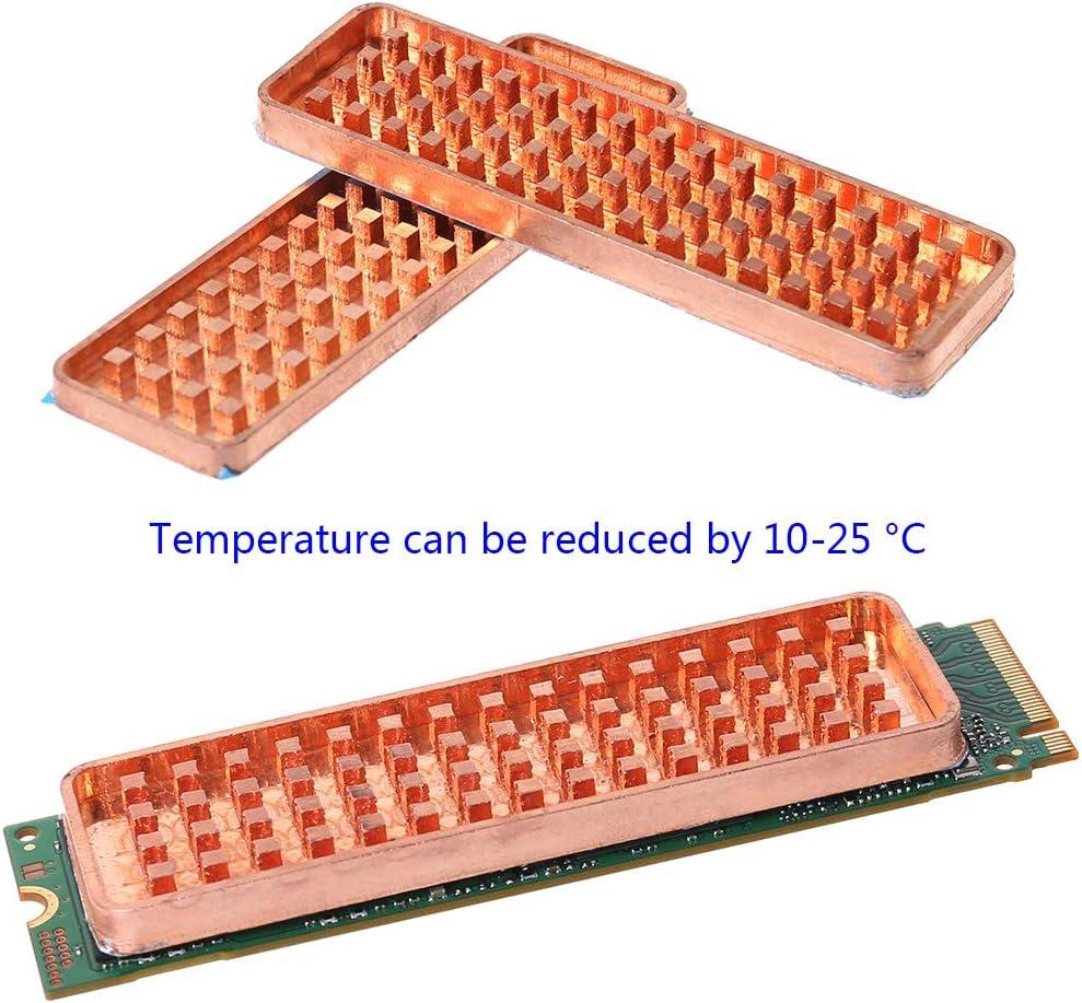 siwetg Copper NVME NGFF M.2 Disipador de Calor 2280 SSD de Metal conductividad t/érmica de Silicona Ventilador de refrigeraci/ón M2 disipador de Calor
