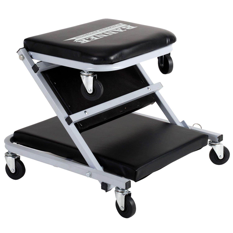 Adjustable Garage Auto Shop Mechanic Rolling Tool Tray ...  |Auto Mechanic Chairs